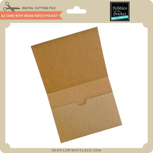 A2 Card with Inside Notch Pocket