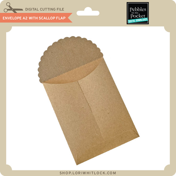 Envelope A2 With Scallop Flat