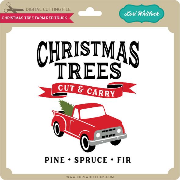 Christmas Tree Farm Red Truck