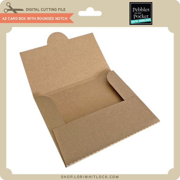 A2 Card Box with Rounded Notch