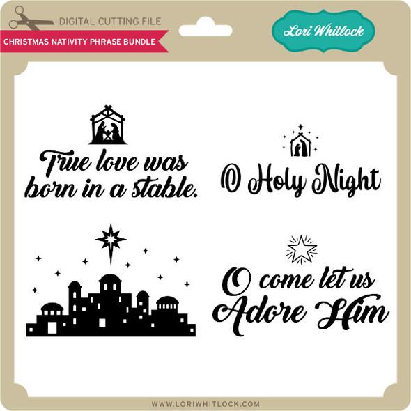 Christmas Nativity Phrase Bundle