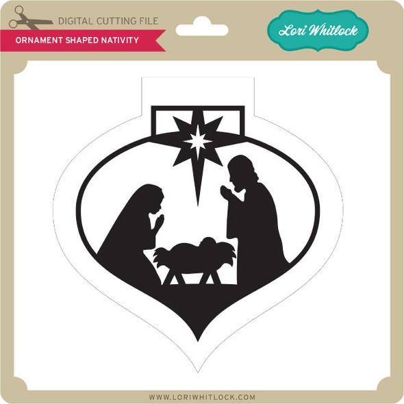 Ornament Shaped Nativity
