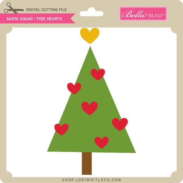 Santa Squad Tree Hearts