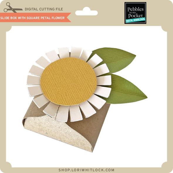 Slide Box With Square Petal Flower