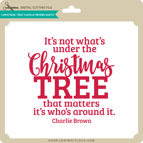 Christmas Tree Charlie Brown Quote