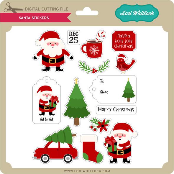 Santa Stickers