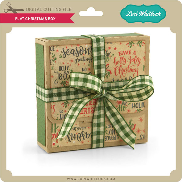 Flat Christmas Box