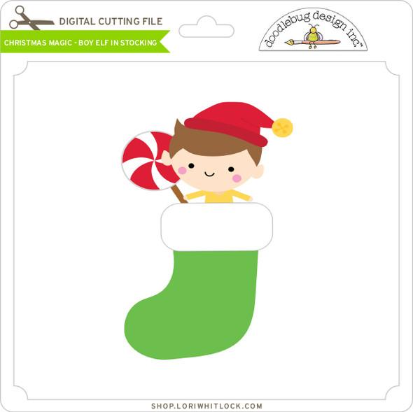 Christmas Magic - Boy Elf in Stocking