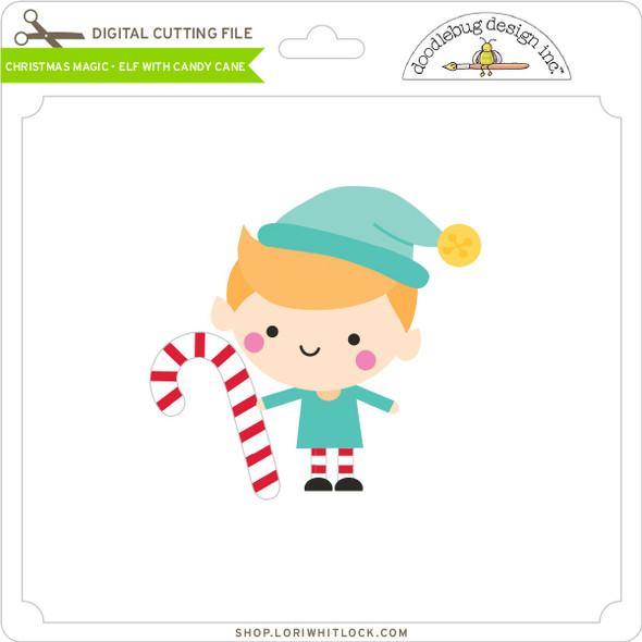 Christmas Magic - Elf with Candy Cane