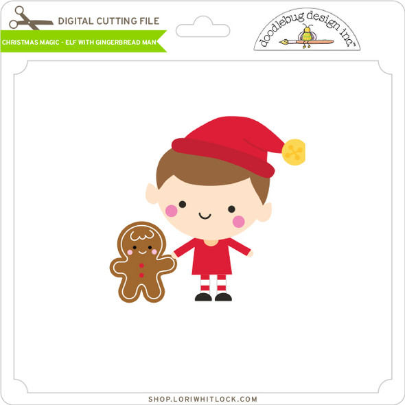 Christmas Magic - Elf with Gingerbread Man