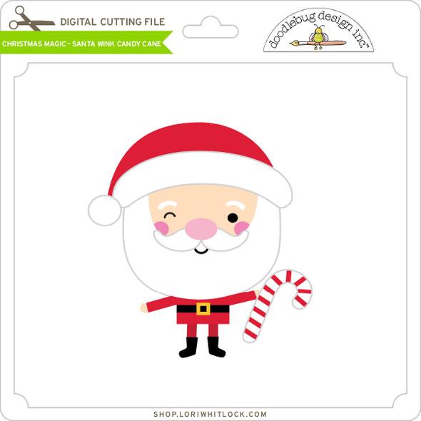 Christmas Magic - Santa Wink Candy Cane