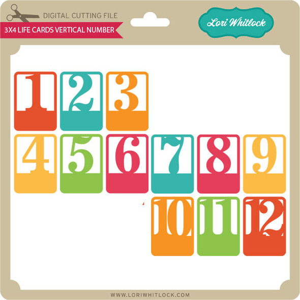 3x4 Life Cards Vertical Number