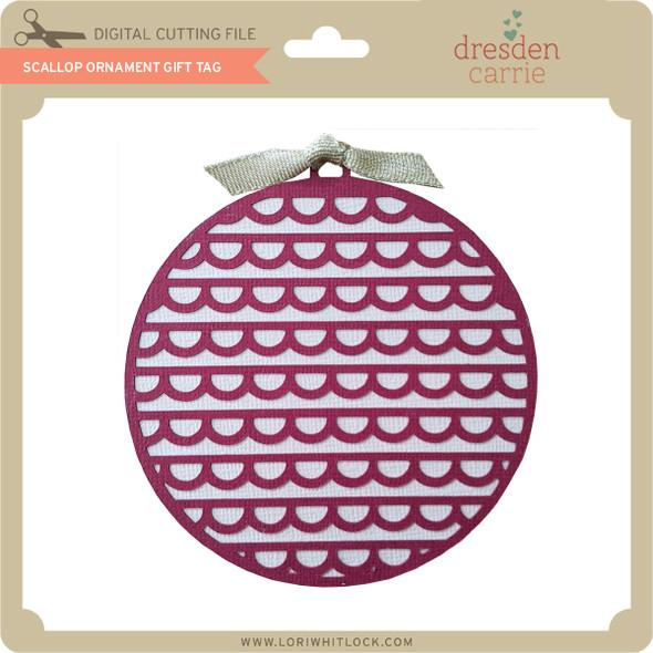 Scallop Ornament Gift Tag