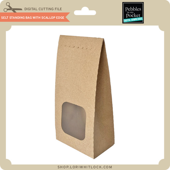 Self Standing Bag with Scallop Edge
