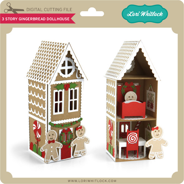 3 Story Gingerbread Dollhouse