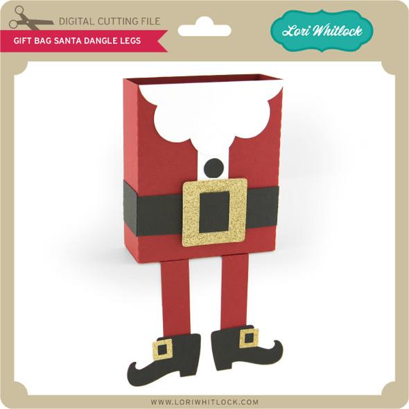 Gift Bag Santa Dangle Legs