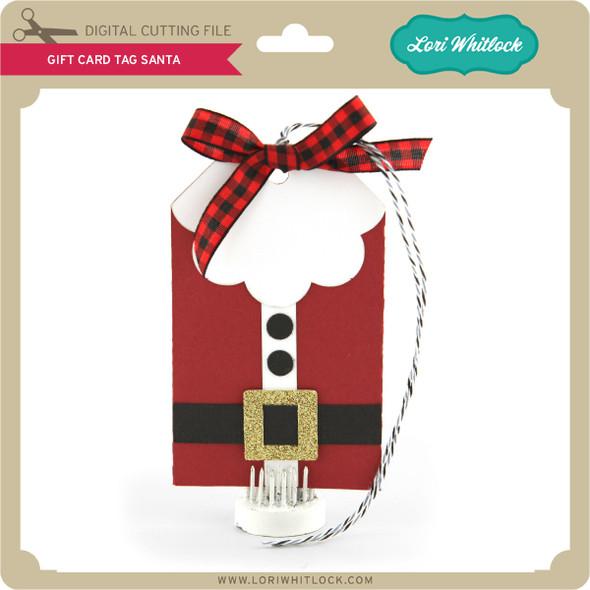 Gift Card Tag Santa