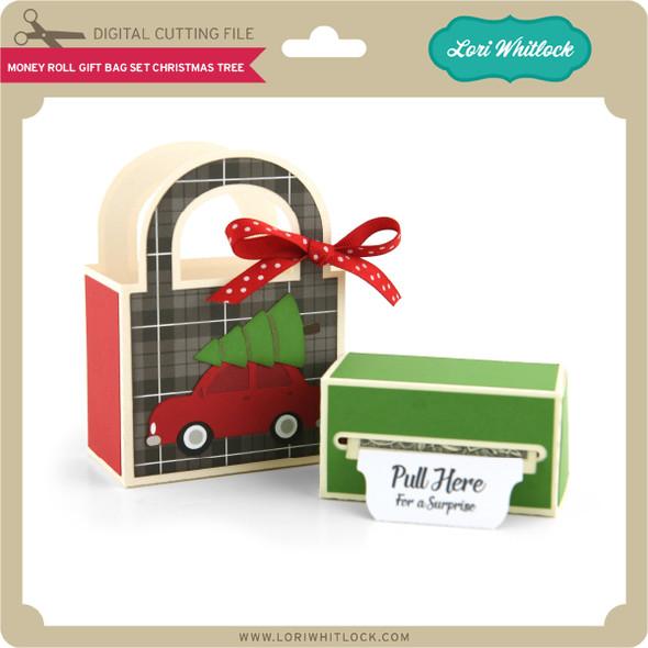 Money Roll Gift Bag Christmas Tree