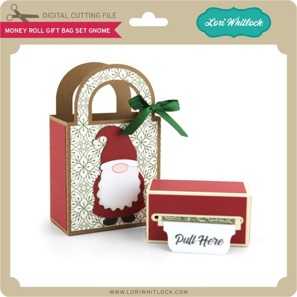 Money Roll Gift Bag Set Gnome