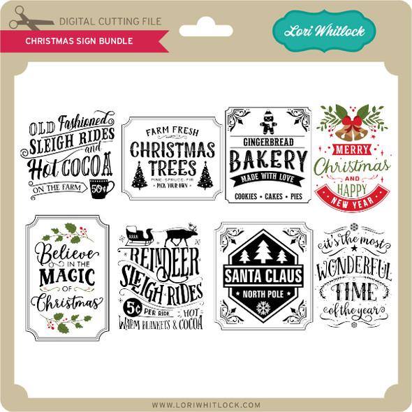 Christmas Sign Bundle