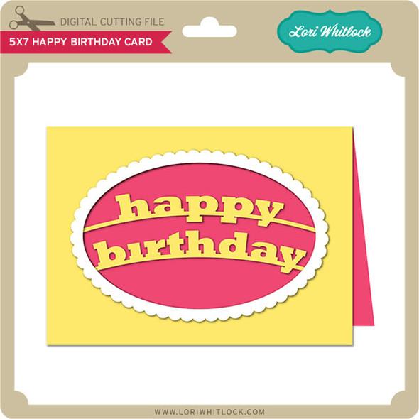 5x7 Happy Birthday Card