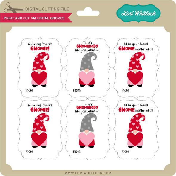 Print And Cut Valentine Gnomes