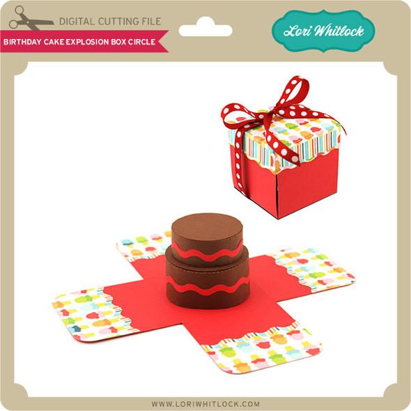 Birthday Cake Explosion Box Circle