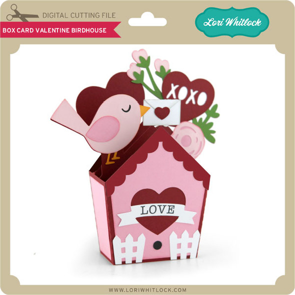 Box Card Valentine Birdhouse