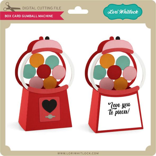 Box Card Valentine Gumball Machine