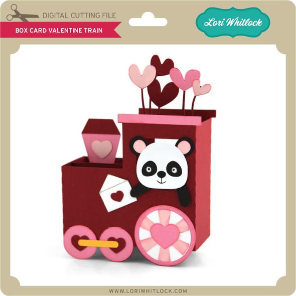 Box Card Valentine Train