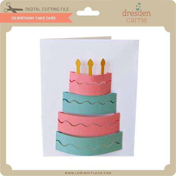 3D Birthday Cake Card
