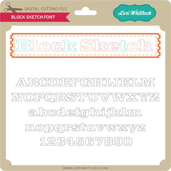 Block Sketch Font