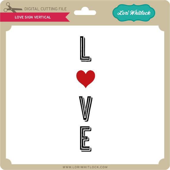 Love Sign Vertical