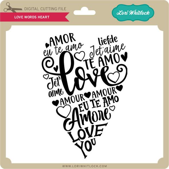 Love Words Heart