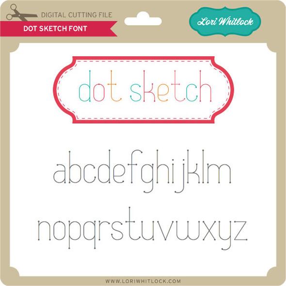 Dot Sketch Font
