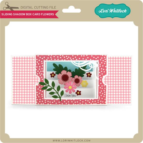 Sliding Shadow Box Card Flowers