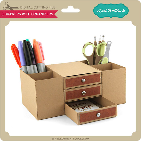 3 Drawers with Organizers