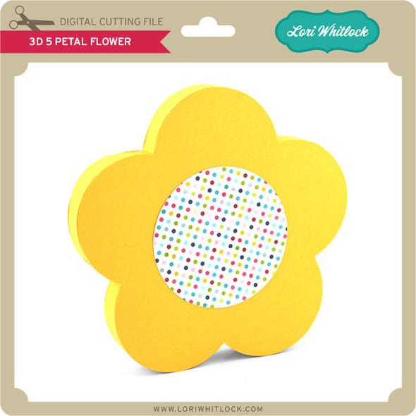 3D 5 Petal Flower