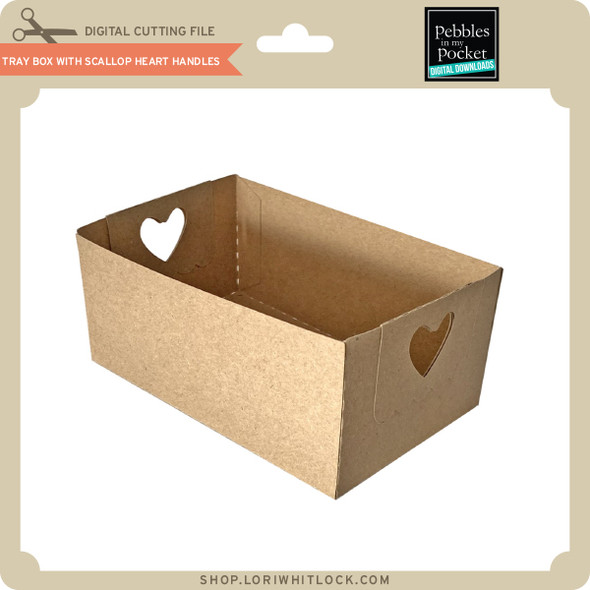Tray Box with Scallop Heart Handles
