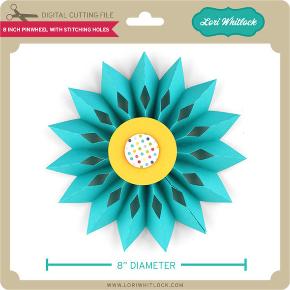 8 inch Pinwheel with Stitching Holes