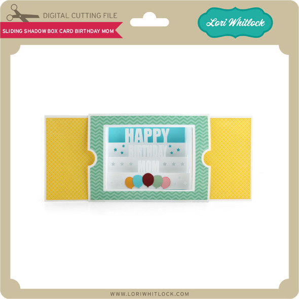 Sliding Shadow Box Card Birthday Mom