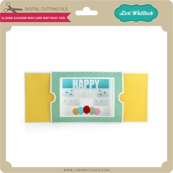 Sliding Shadow Box Card Birthday Son