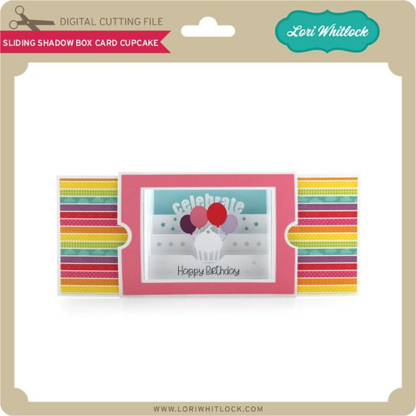 Sliding Shadow Box Card Cupcake