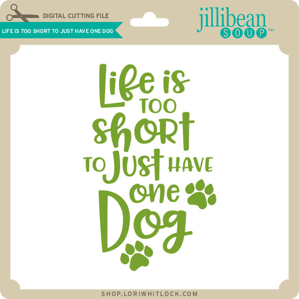 Life is too Short to Just Have One Dog