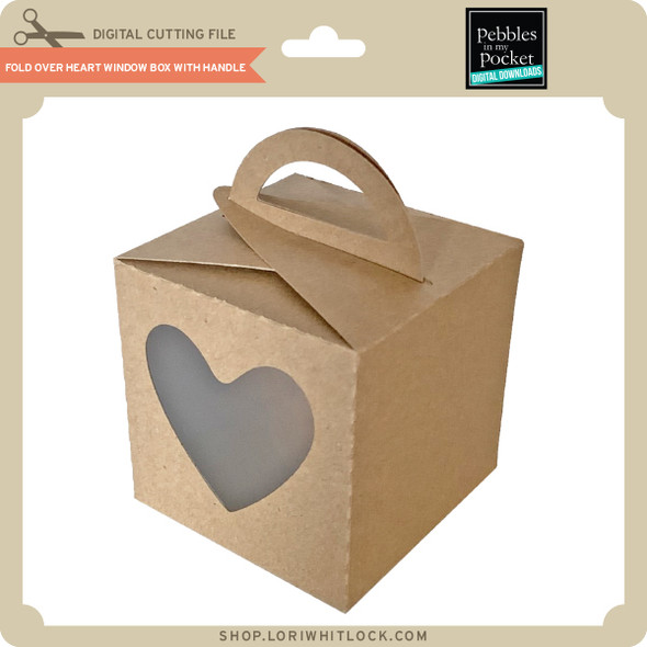 Fold Over Heart Window Box with Handle
