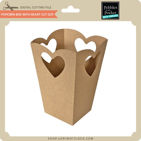 Popcorn Box with Heart Cut Out