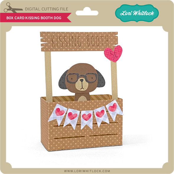 Box Card Kissing Booth Dog