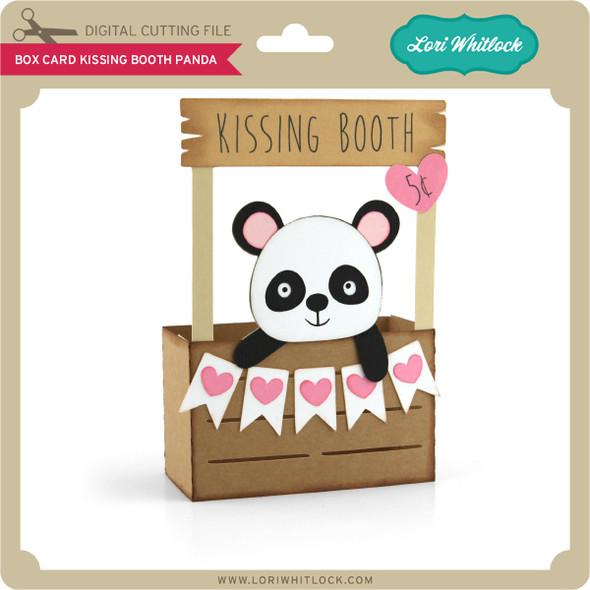 Box Card Kissing Booth Panda