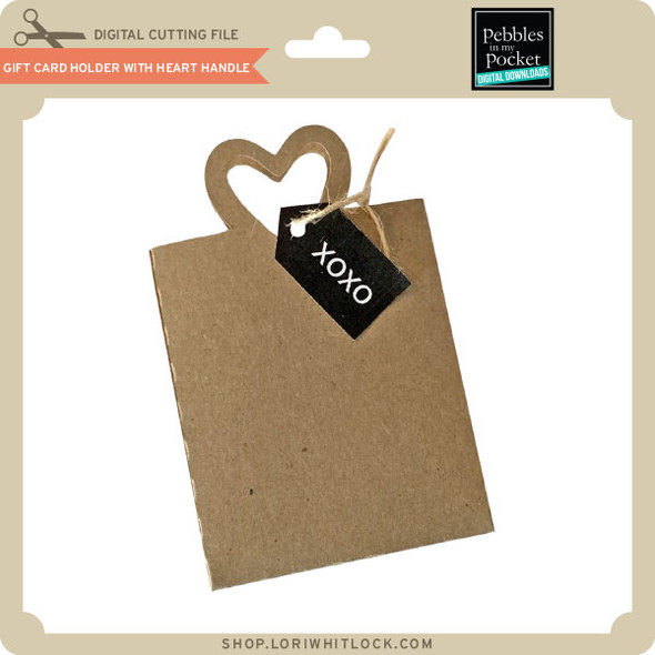 Gift Card Holder With Heart Handle