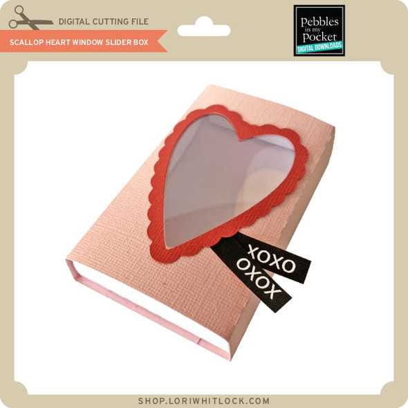 Scallop Heart Window Slider Box